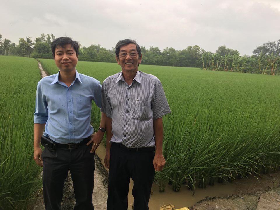Tác giả bài viết Phan Thành Hiếu và kỹ sư Hồ Quang Cau